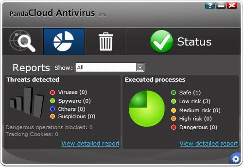 �������� ��������� Panda Cloud antivirus